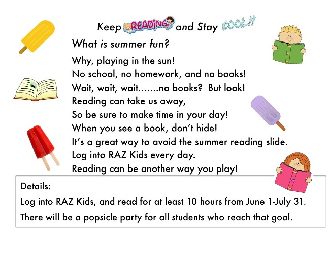 Picture of the summer reading flier