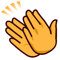 clapping hands clipart